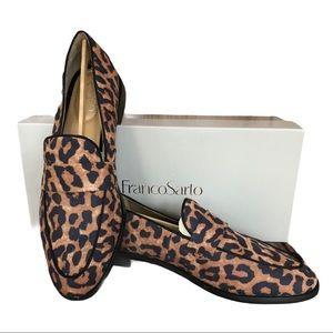 NIB Franco Sarto Hudley Leopard Print Loafer Sz. 7